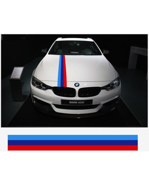 Aufkleber passend für BMW M Performance M Streifen Aufkleber Haubenaufkleber 15cm x 200cm