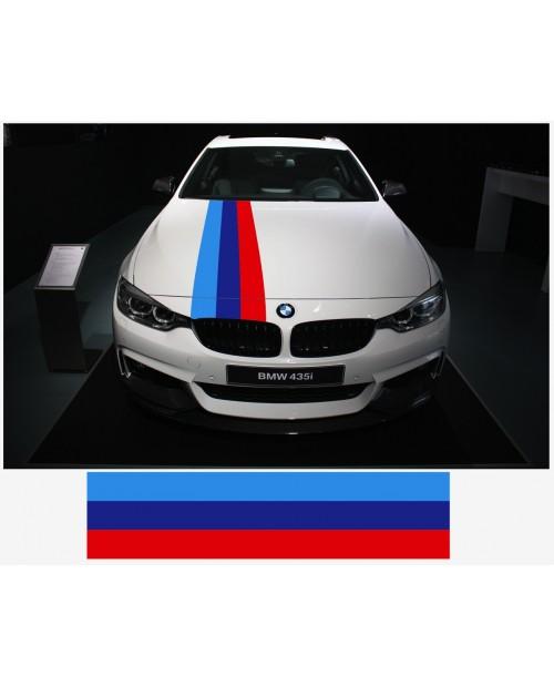 Aufkleber passend für BMW M Performance M Streifen Aufkleber Haubenaufkleber 30cm x 125cm