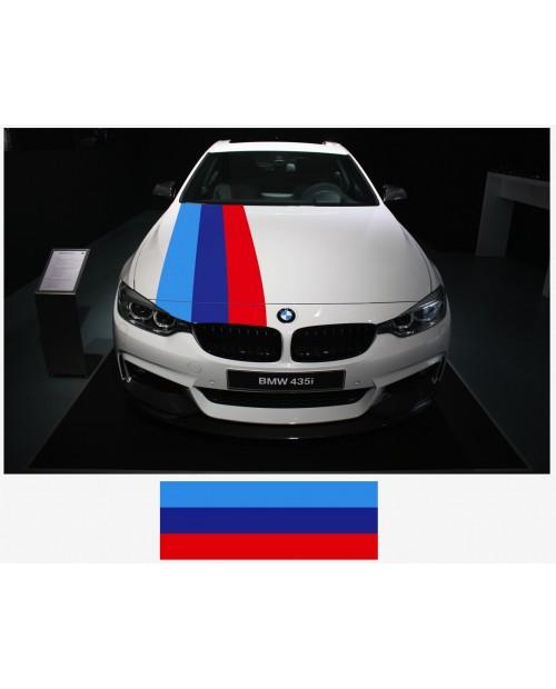 Aufkleber passend für BMW M Performance M Streifen Aufkleber Haubenaufkleber 45cm x 125cm