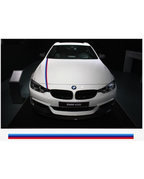 Aufkleber passend für BMW M Performance M Streifen Aufkleber Haubenaufkleber 5cm x 125cm