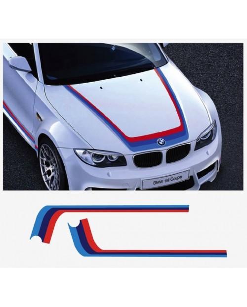 Aufkleber passend für BMW M Performance M Streifen Aufkleber Haubenaufkleber