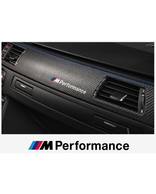 Aufkleber passend für BMW M Performance motorsport Armatur Aufkleber 120 mm, 2 Stk