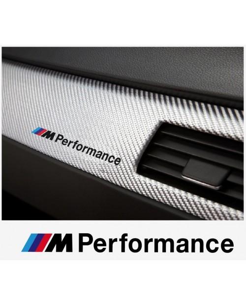 Aufkleber passend für BMW M Performance motorsport Armatur Aufkleber 120 mm, 2 Stk.