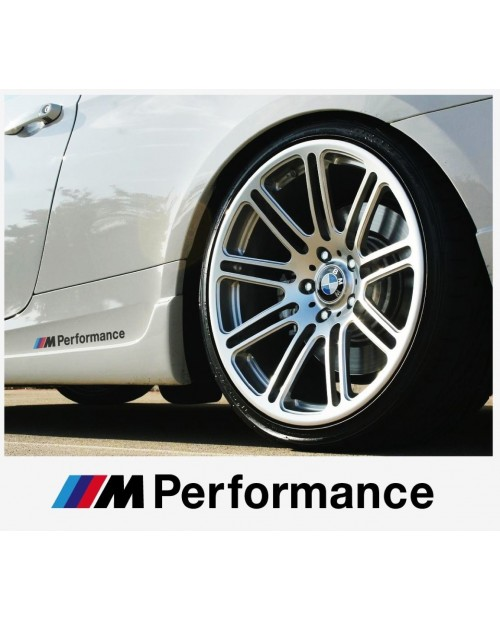 Aufkleber passend für BMW M Performance motorsport Seitenaufkleber Aufkleber 200 mm, 2 Stk