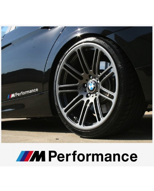 Aufkleber passend für BMW M Performance motorsport Seitenaufkleber Aufkleber 200 mm, 2 Stk.