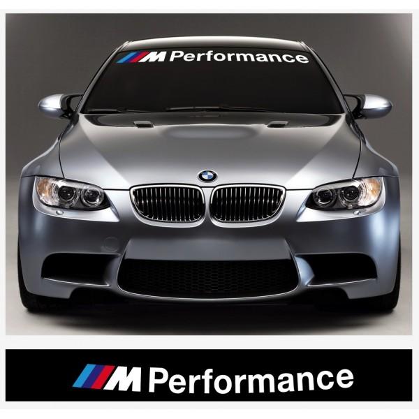 Aufkleber passend für BMW M Performance Frontscheiben Aufkleber 950 mm oder 1100mm / 1400mm