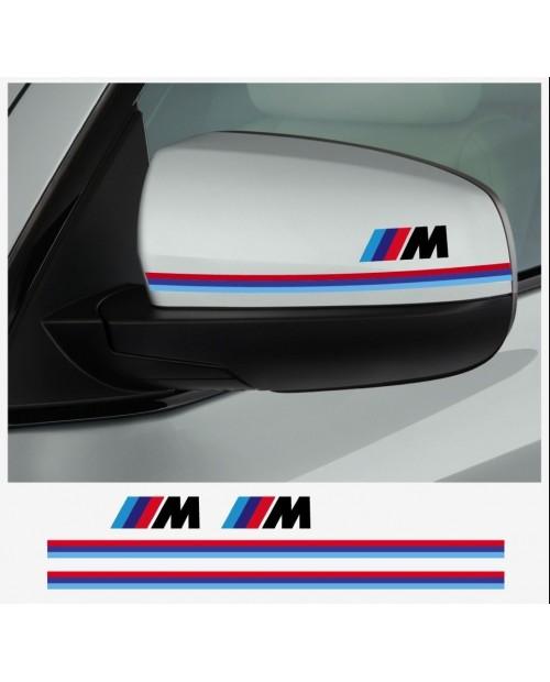 Aufkleber passend für BMW M Performance Aussenspiegel Aufkleber