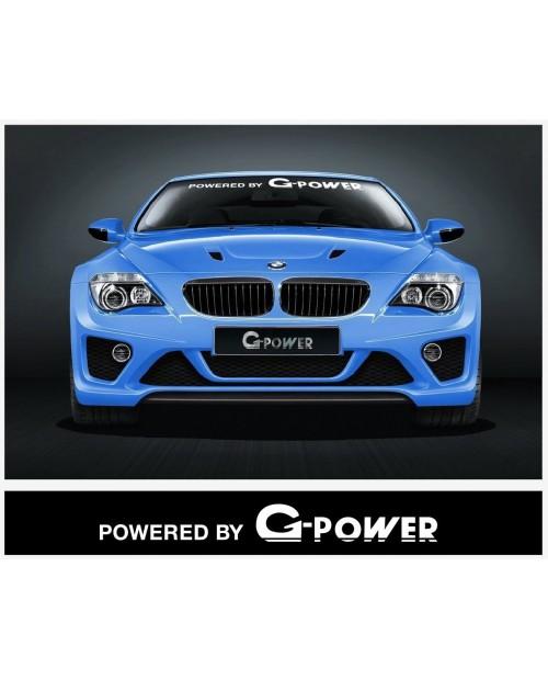 Aufkleber passend für BMW Powered by G Power Frontscheiben Aufkleber 950 mm / 1400 mm