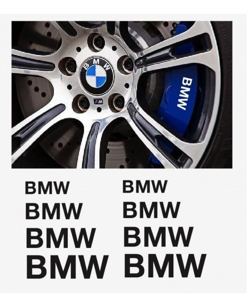 Aufkleber passend für BMW Fenster- Bremssattel- Spiegel Aufkleber - 8 Stück im Set