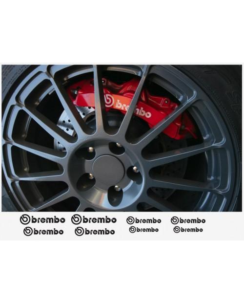 Aufkleber passend für BREMBO Felgen- Fenster- Bremssattel- Spiegel Aufkleber – 8 Stück 85mm - 55mm