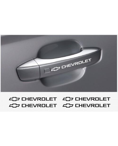 Aufkleber passend für Chevrolet Türgriff Aufkleber 4 Stk.