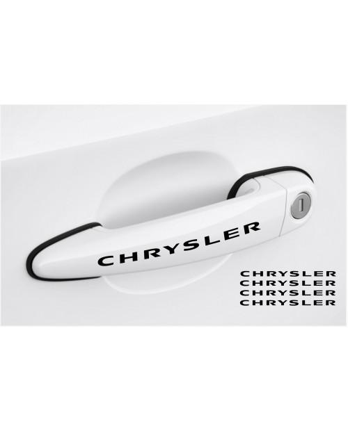 Aufkleber passend für Chrysler Türgriff Aufkleber 4Stk, Satz 120mm
