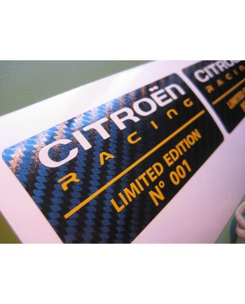 Aufkleber passend für Citroen DS3 Racing Limited Edition Aufkleber x2 Wunschnummer