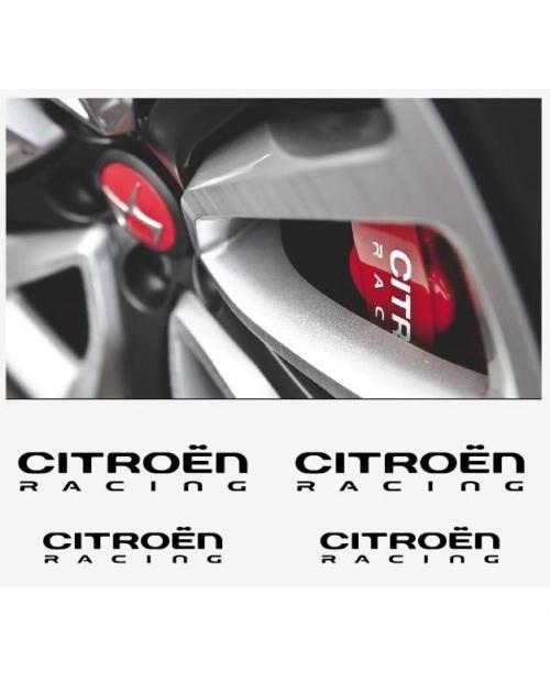 Aufkleber passend für Citroen Racing DS3 DS4 Fenster- Bremssattel- Spiegel Aufkleber - 4 Stück im Set