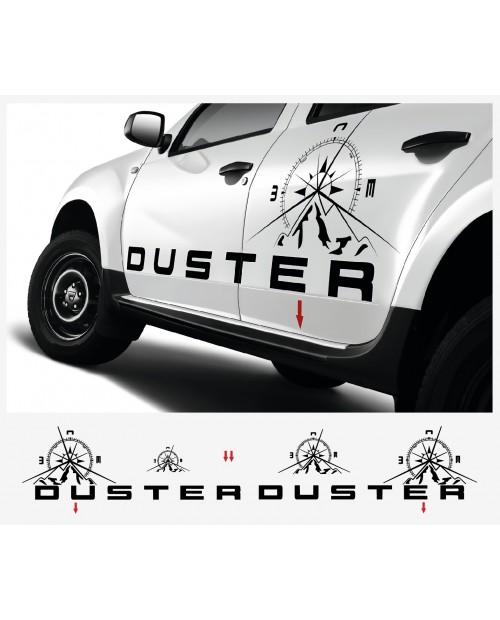Aufkleber passend für Dacia Duster Aufkleber Rennstreiffen komplet Satz