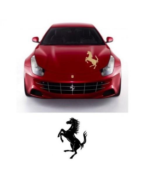 Aufkleber passend für Ferrari Motorhaube Aufkleber Cavallino Rampante Ferrari Pferd 65cm