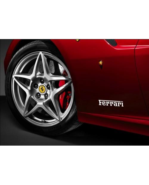 Aufkleber passend für Ferrari Seitenaufkleber Aufkleber 22 cm x 5 cm 2 Stk.