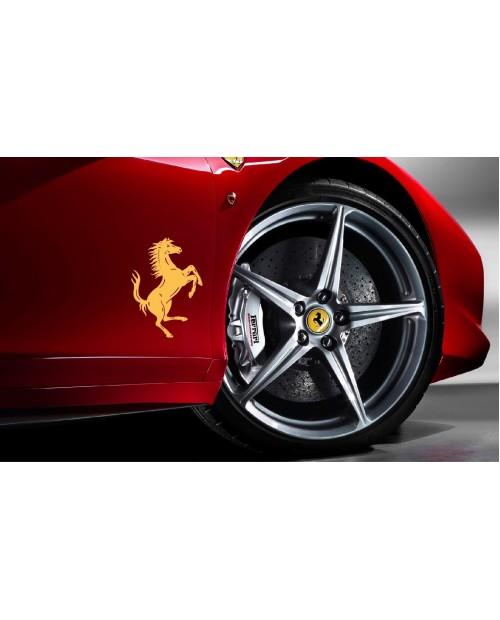 Aufkleber passend für Ferrari Seitenaufkleber Aufkleber Satz Cavallino Rampante 2 Stk. Ferrari Pferd