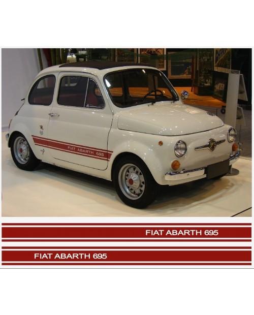Aufkleber passend für Fiat 500 ABARTH 695 Seitenaufkleber 2Stk. Satz