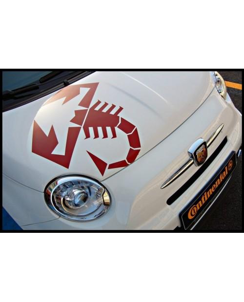 Aufkleber passend für Fiat 500 Abarth Motorhaube Aufkleber Skorpion