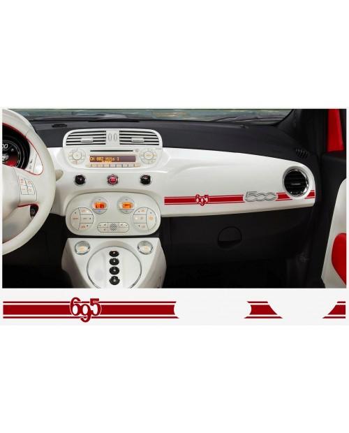 Aufkleber passend für Fiat 500 ABARTH Armatur Aufkleber 2 Stk. 695