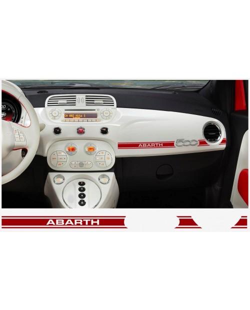Aufkleber passend für Fiat 500 ABARTH Armatur Aufkleber 2 Stk. ABARTH