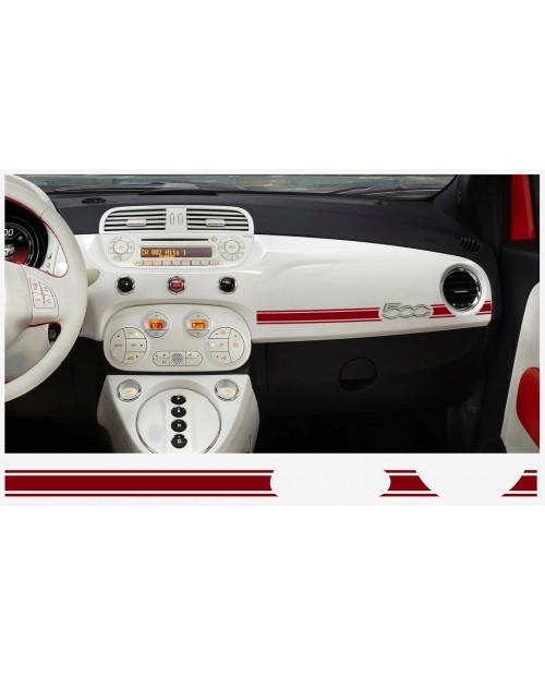 Aufkleber passend für Fiat 500 ABARTH Armatur Aufkleber 2 Stk.