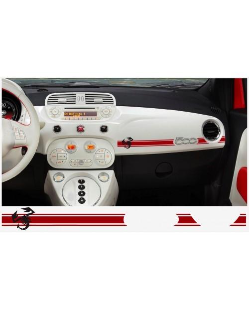 Aufkleber passend für Fiat 500 ABARTH Armatur Aufkleber 2 Stk. SKORPION