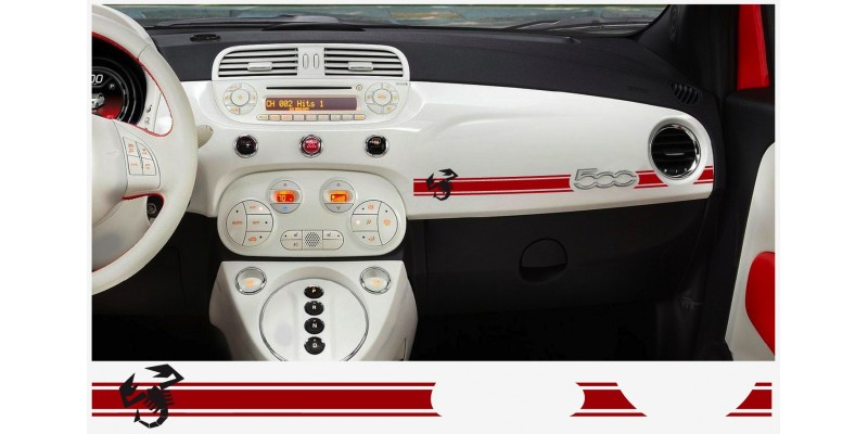 Decal to fit Fiat 500 ABARTH dashboard decal 2 pcs. SKORPIO