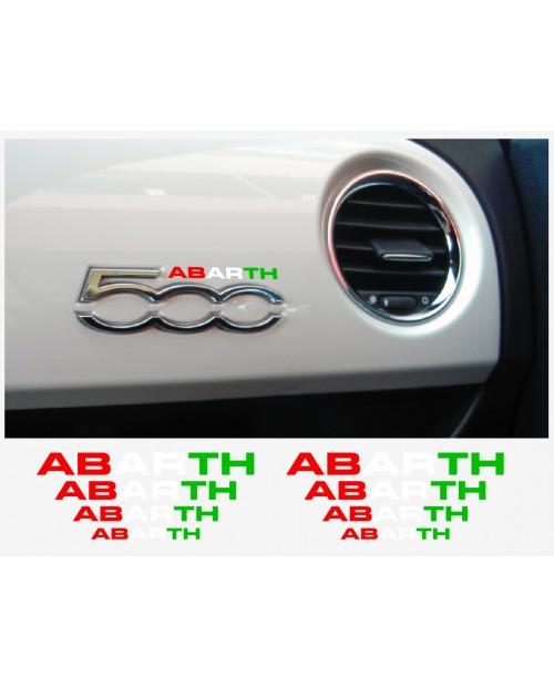 Aufkleber passend für Fiat 500 ABARTH Armatur Aufkleber 8 Stk.