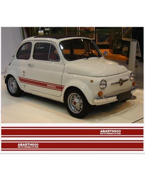 Aufkleber passend für Fiat 500 ABARTH esseesse Seitenaufkleber 2Stk. Satz