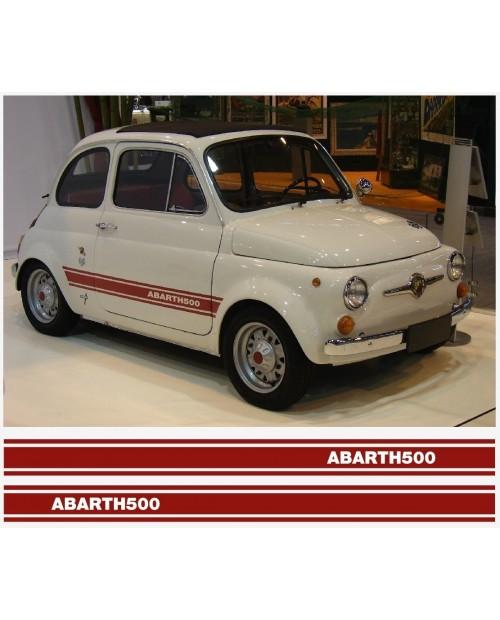 Aufkleber passend für Fiat 500 Abarth Seitenaufkleber 2Stk. Satz