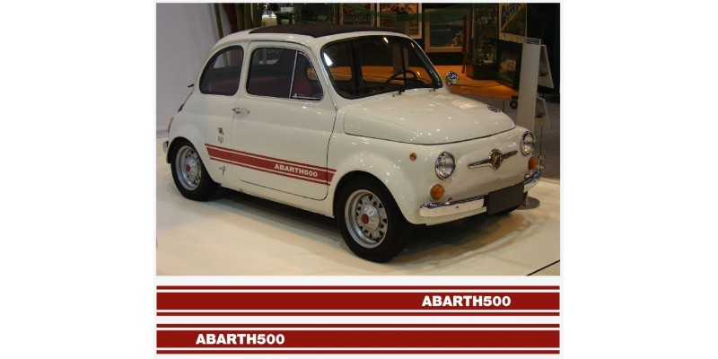 Decal to fit Fiat 500 Abarth side decal 2pcs. set