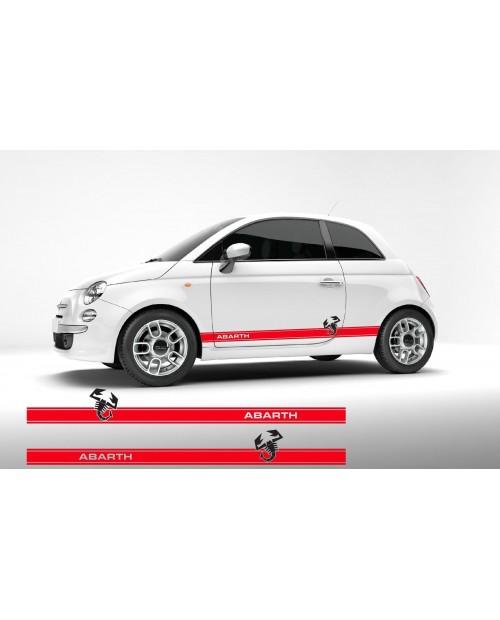 Aufkleber passend für Fiat 500 Abarth Seitenaufkleber Aufkleber Satz 2 Stk. 180 cm