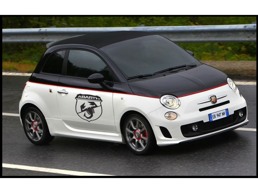 Decal To Fit Fiat 500 Abarth Side Decal Set 2 Pcs Shield