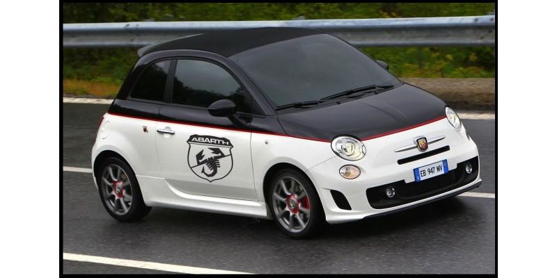 Aufkleber passend für Fiat 500 Abarth Seitenaufkleber Aufkleber Satz 2 Stk. wappen
