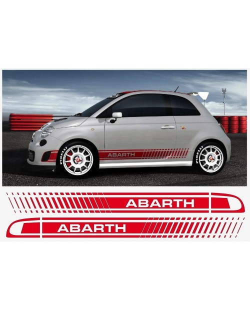 Aufkleber passend für Fiat 500 Assetto Corsa Aufkleber Abarth 3 Stk. Satz