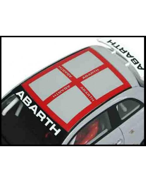 Aufkleber passend für Fiat 500 Assetto Corsa Dach Aufkleber Abarth