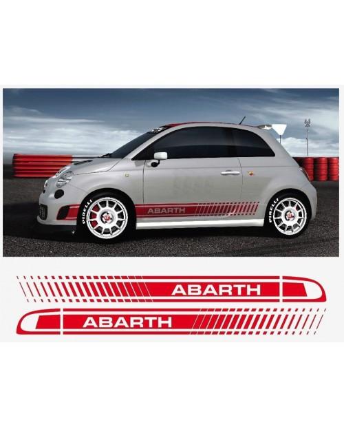 Aufkleber passend für Fiat 500 Assetto Corsa Seitenaufkleber Aufkleber Abarth 2 Stk. Satz