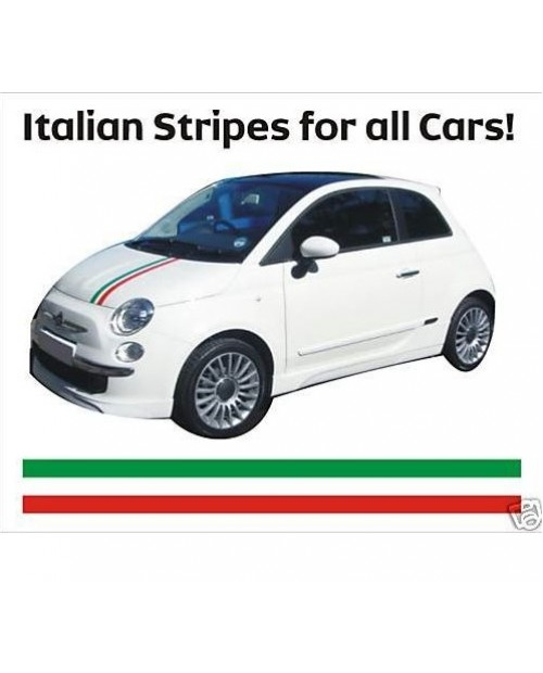 Aufkleber passend für Fiat 500 Auto Hauben Motorhauben Aufkleber Haubenaufkleber Italia