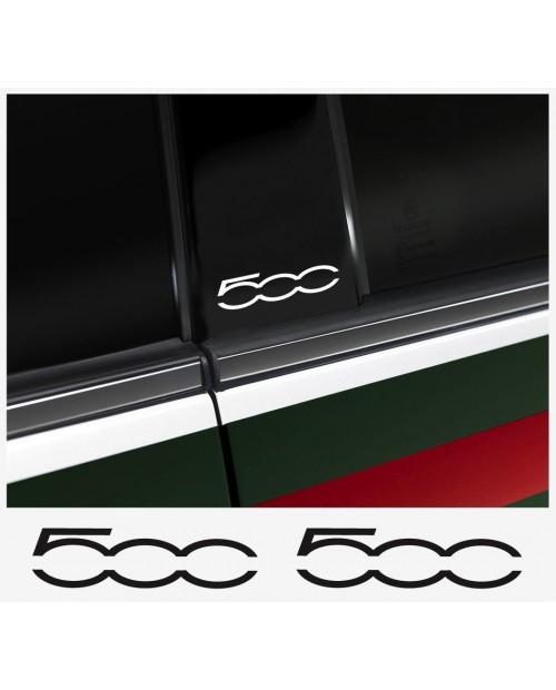 Aufkleber passend für Fiat 500 B-Säule Aufkleber - 2 Stück im Set