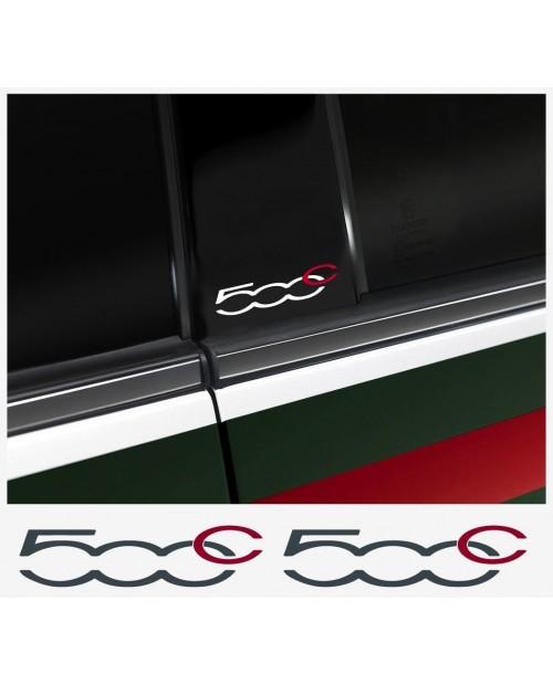 Aufkleber passend für Fiat 500 C B-Säule Aufkleber - 2 Stück im Set
