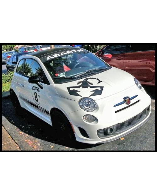 Aufkleber passend für Fiat 500 Aufkleber Satz Abarth Scorpion Skorpion 7 Stk. Komplett Set