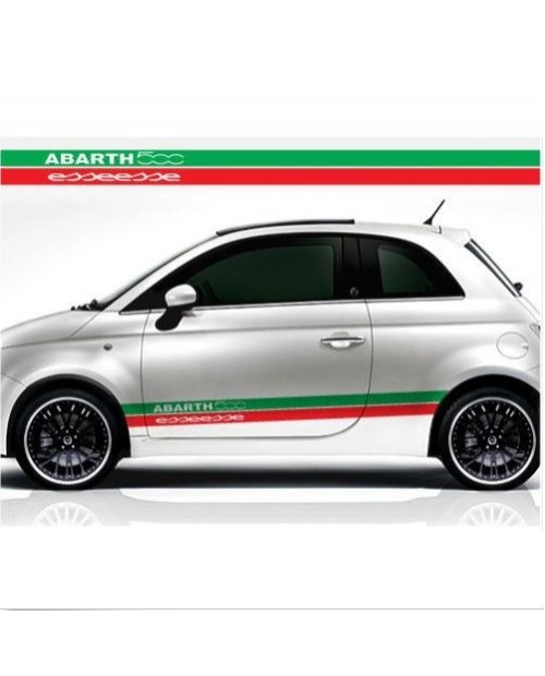 Aufkleber passend für Fiat 500 Esseesse Seitenaufkleber Aufkleber Satz