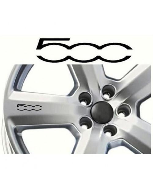 Aufkleber passend für Fiat 500 Felgen- Fenster- Bremssattel- Spiegel Aufkleber - 50mm - 8 Stück im Set