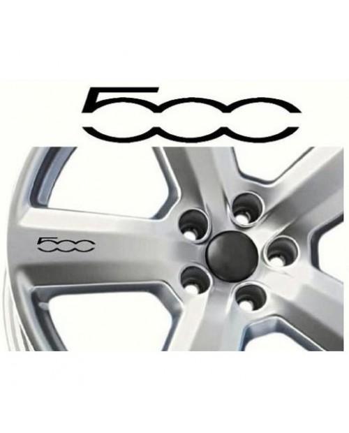 Aufkleber passend für Fiat 500 Felgen- Fenster- Bremssattel- Spiegel Aufkleber - 8 Stück im Set