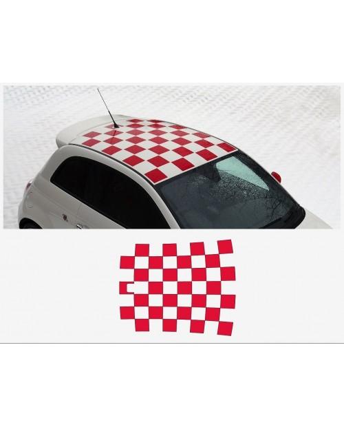Aufkleber passend für Fiat 500 Dachaufkleber Aufkleber Abarth