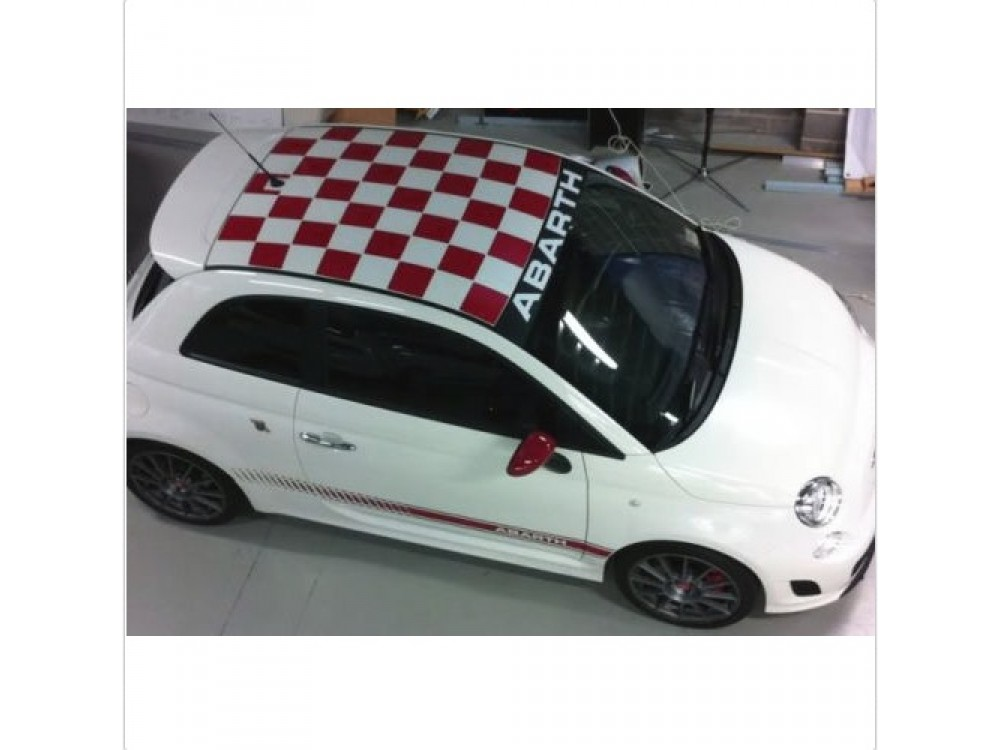 Decal To Fit Fiat 500 Side Decal Roof Scheibe Decal