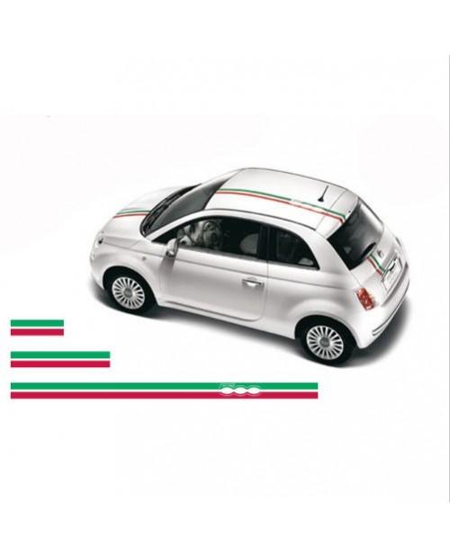 Aufkleber passend für Fiat 500 Haubenaufkleber Dachaufkleber Aufkleber Satz Abarth 3 Stk.