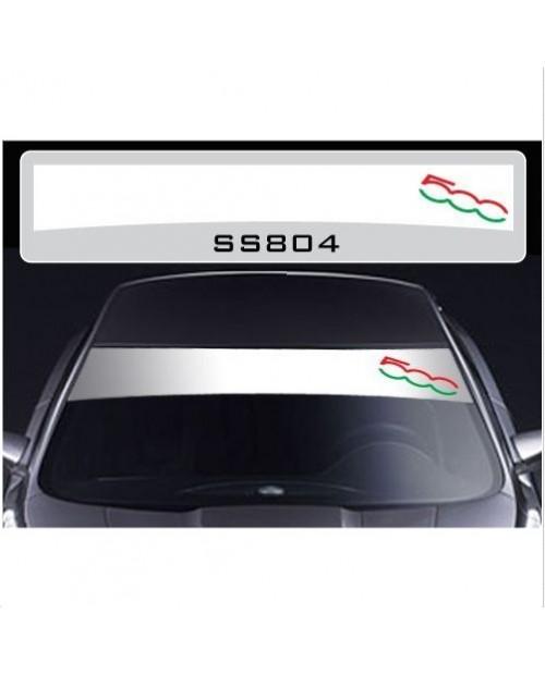 Aufkleber passend für Fiat 500 Frontscheiben Sonnenblendstreifen Aufkleber